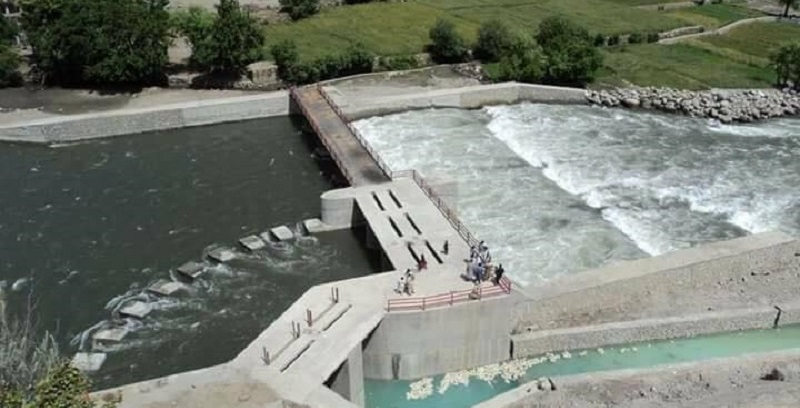 The work of the Manugi water power dam has progressed dramatically